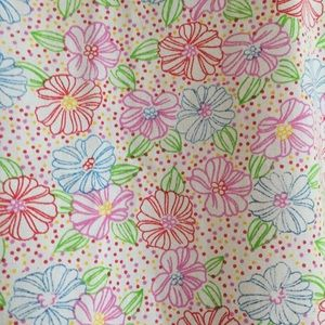 Tops - Multi Color Flowers Scrub Top Small
